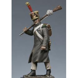 Voltigeur d'infanterie en manteau - campagne de 1814