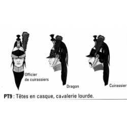 Têtes en casque, cavalerie