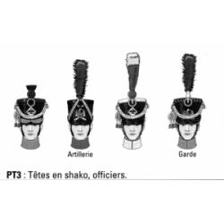 Têtes en shako, officiers