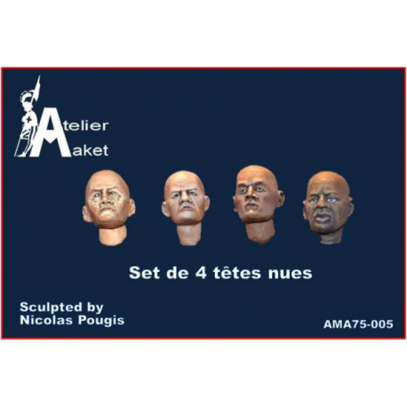set of 4 bareheaded