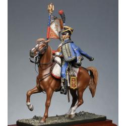 Porte-aigle du 9e régiment de hussards 1809