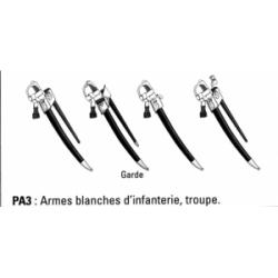 Armes blanches d'infanterie, troupe