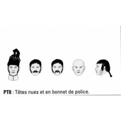 Têtes nues et bonnet de police