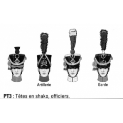 Têtes en shako, officiers