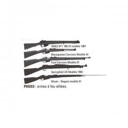 Set d'armes à feu - Troupes alliées WWI