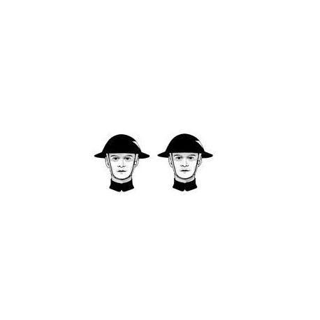 2 têtes armée britannique, WWI