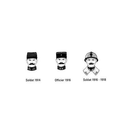 3 têtes armée française, WWI