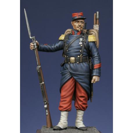 Caporal de voltigeurs d'infanterie de ligne - Italie 1859